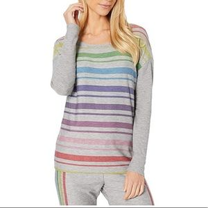 NWT Chaser Heather Grey Striped Sweater XS